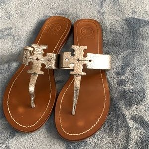 Tory Burch Gunmetal Sandals